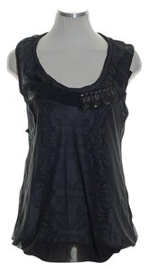 CAbi Sleeveless Knit Jeweled Top Black