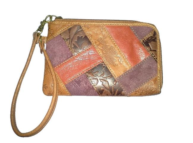 Item - Sasha Patchwork Multicolor Leather Wristlet