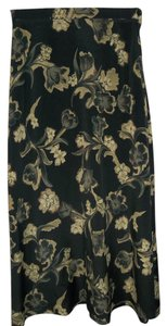Firts Option Elastic Waist Polyester Maxi Skirt Black
