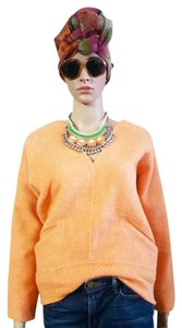 Derek Lam 10 Crosby Wool Top Orange sherbert