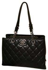 Chanel Satchel in Black An Silver