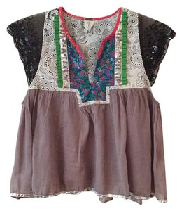 Free People Multi Pattern Top Multi-color
