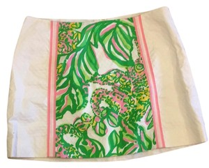 Lilly Pulitzer Mini Skirt Seeing Pink Elephants