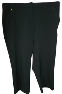 Briggs Stretchy Flat Front Career Capris Black