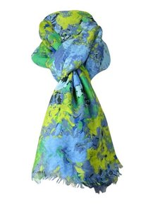 Echo NWT Echo Design Blue/Yellow Floral Scarf/Wrap