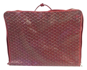Goyard Suitecase Red Travel Bag