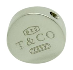 Tiffany & Co. Tiffany & Co.1837 925 Sterling Silver Concave Circle Disk Pendant ONLY