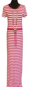 Pink and white Maxi Dress by Michael Kors