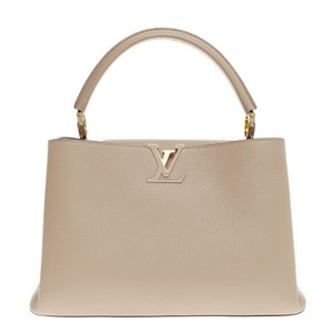 Louis Vuitton Leather Tote in Beige