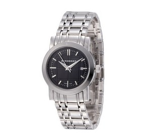 Burberry Burberry BU1365 Women's Heritage Stainless Steel Black Dial Watch
