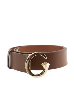 Gucci Gucci Brown Leather Belt, Size 34 (102227)