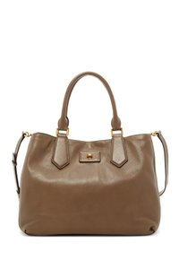Marc Jacobs Tote Leather Satchel in Taupe