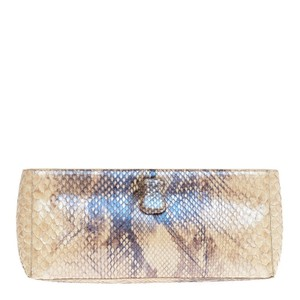 Nancy Gonzalez Python Brown Clutch