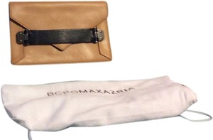 BCBGMAXAZRIA biege and black Clutch