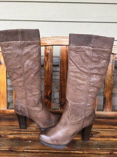 Frye Mimi Scrunch 9.5 Distressed TAUPE Boots