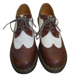 Dr Martins Wingtip Brown and ivory Wedges