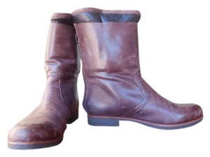 Modern Vintage Soft Leather Shearling Lined Glazed Oak Boots