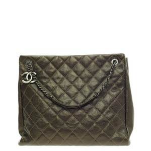 Chanel Caviar Tote in Olive Green