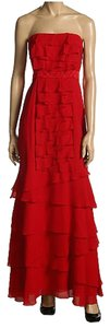 BCBGMAXAZRIA Silk Chiffon Evening Gown Dress