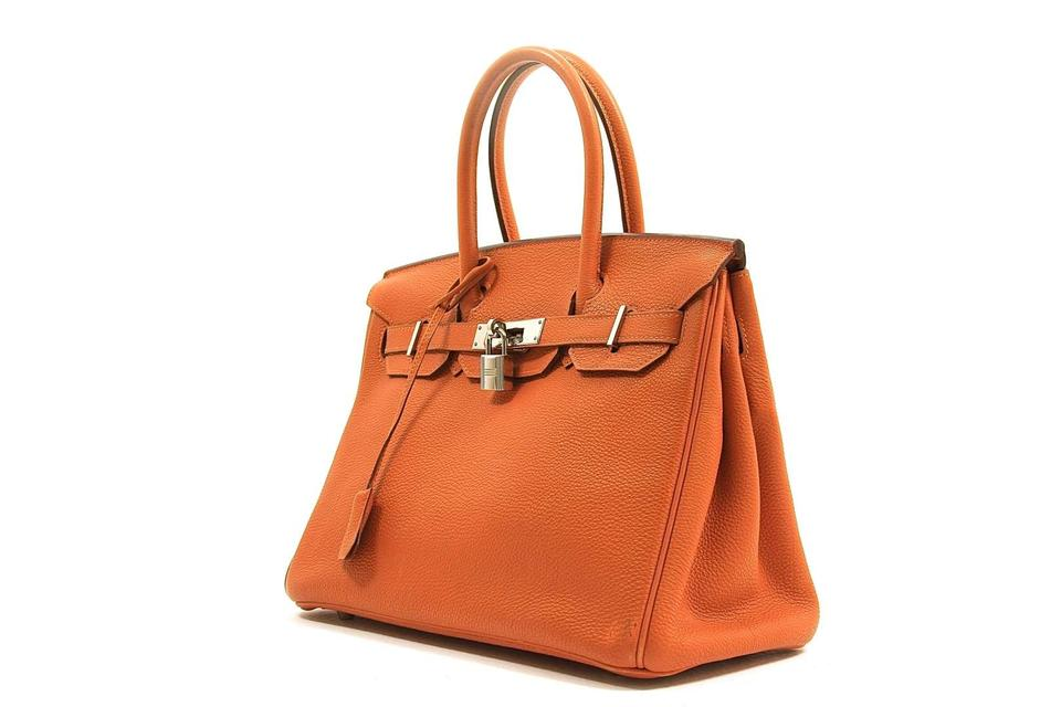 b9d8d57945d Hermès Birkin Togo 30cm Orange Leather Satchel - Tradesy