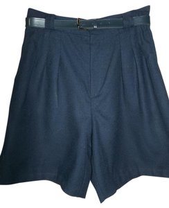 Briggs Dress Pleated Polyester Dress Shorts Dark Blue