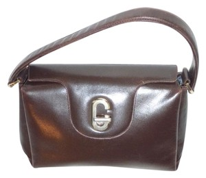 Gucci Early Style Satchel in rich brown leather