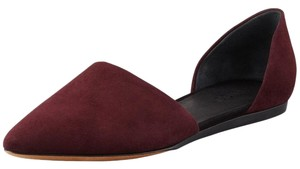 Vince Suede D'orsay Flat Burgundy Flats