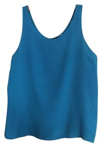 Reformation Tank Crepe Bright Sleeveless Top blue