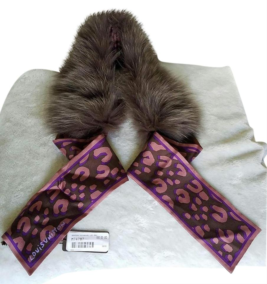 bandeau fleur leopard fur stole muffler tradesy. Black Bedroom Furniture Sets. Home Design Ideas