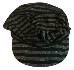 Scala Gold & Black Striped Cap By Scala