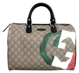 Gucci 195451 Italian Flag Satchel