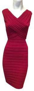 ADRIANNA PAPELL Designer Dress Size 6 Small S 4 8 Red Sundress Formal Bodycon Dress