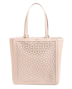 Tory Burch Perforated Tote in Beige