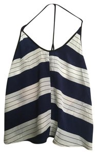 Reformation T-strap Striped Stripes Top blue