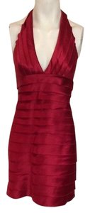 BCBG MAX AZRIA Designer Dress Size 8 Medium M 6 10 Red Formal Striped Dress