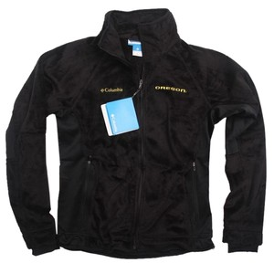 Columbia Sportswear Company Oregon Ducks College Football Cozy Warm Tailgating Black Jacket