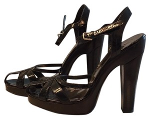 Burberry Black Platforms