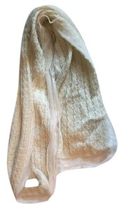 Mix It Mesh Lace Trimmed Fall Winter Cream Tone LightWeight Knit Scarf