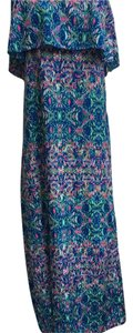 Teal, blue, pink Maxi Dress by Ali kris