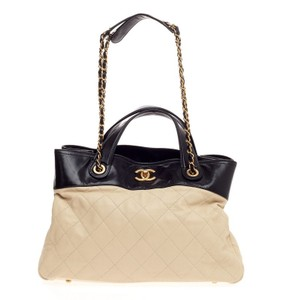 Chanel Leather Tote in Nude