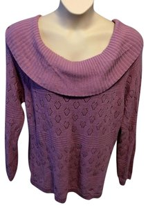 Croft & Barrow Scoop Neckline Color Blocking Casual Sweater