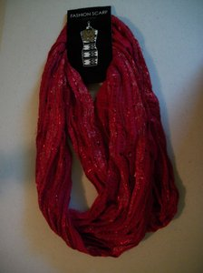 Mix It Versatile Dressy Red Loop Scarf By Mix It