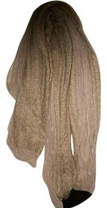 Mixit Mesh Lace Trimmed Fall Winter Camel Brown LightWeight Knit Scarf