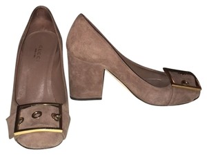 Gucci 3-inch Chunky Heels taupe Pumps