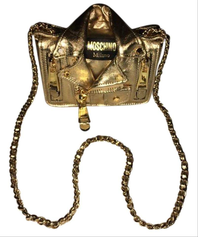 e6242797f6869 Moschino Gold Metallic Leather Cross Body Bag - Tradesy