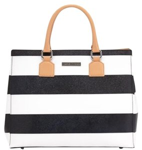 Charles Jourdan Tote in Blk/Wht