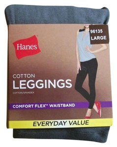 Hanes Womens Hanes Grey Cotton Leggings Size Large