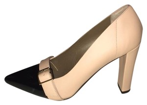 Marni Classic Modern Twist dusty pink and black Pumps