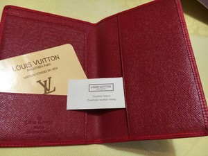Louis Vuitton Made In France Genuine Wristlet in Red