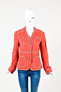 Marc Jacobs White Denim Red Jacket
